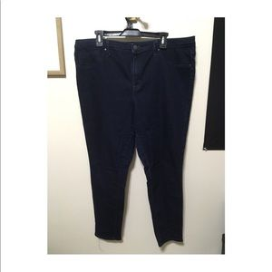 Mossimo High Rise Jegging Dark Wash Size 18